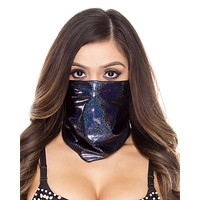 Holographic Black Face Mask
