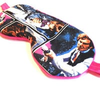 Star Wars Sleep Mask, Eye Shade, Adult or Child Size, Ladies Woman Kids Girls Teen, Movie R2D2, Gift Pink Fleece Travel Night Nap Face Cover