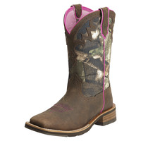 Ariat Unbridled Camo Pink Cowgirl Womens Western Boots