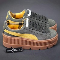 PUMA Fenty Creeper Women Casual Running Sport Shoes Sneakers Roses Grey Green G-A-YYMY-XY