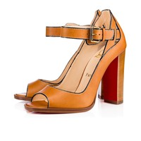 Habibabe 100 Cuoio/Fauve Leather - Women Shoes - Christian Louboutin