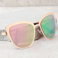 Sun Ray Rose Gold and Pink Mirrored Sunglasses