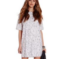T-shirt Dress with Abstract Geo Print