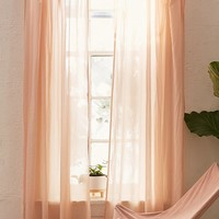 Sheer Voile Window Curtain | Urban Outfitters