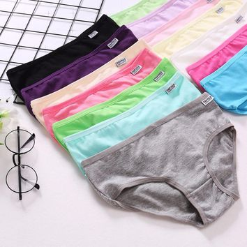 14 Color With Cheap Price Female Briefs Ladies Panties Breathable Underpants Girls Knickers Sexy Women Cotton Underwears