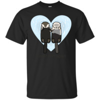 Sea Otters In Love T-Shirts T Shirt