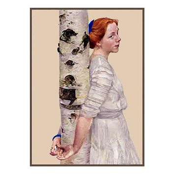 Lisbeth with Birches by Swedish artist Carl Larsson Counted Cross Stitch