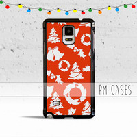 Red Christmas Themed Case Cover for Samsung Galaxy S3 S4 S5 S6 Edge Active Mini or Note 1 2 3 4 5