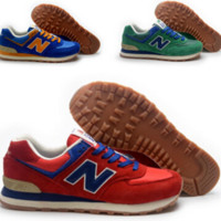 """""""New balance""""Fashionable Women/Men comfortable leisure sports shoes Red Blue Green"""