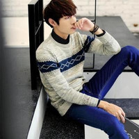 Mens Winter Trendy Pullover Sweater