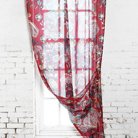 Garden Curtains in Ruby - Urban Outfitters