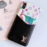 LV Tide brand iPhone XS Max mobile phone case cover 8