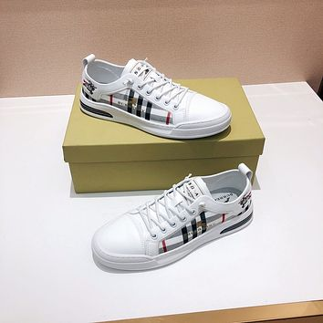 Burberry  Men Fashion Boots fashionable Casual leather Breathable Sneakers Running Shoes06110cx