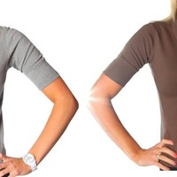 Alki'i Junior 2-Pack Womens Polo Shirts - BrownGrey M
