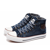 New Arrival Brand Men's fashion sneakers 2014 autumn canvas shoes male high quality denim cloth lacing shoes men sneakers