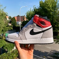 Air Jordan 1 Retro High OG Light Smoke Grey GS Sneakers Basketball Shoes