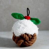Happy Paws Dog Rope Christmas Pudding Toy (14cm x 14cm) - Matalan