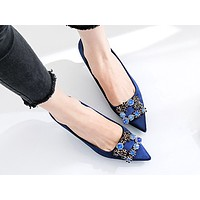 Hot sales fashionable sexy women's diamond pointy heels shoes