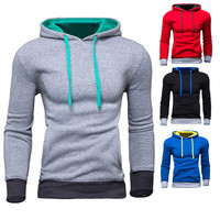 New Simple Color Pullover Slim Fit Hoodie