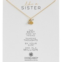 Women's Dogeared 'Family - Like a Sister' Cluster Pendant Necklace