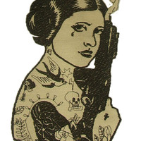Sugar Skull Princess Leia Patch  Applique Star Wars Patch Pretty embroidery Kids Patch Large Patch