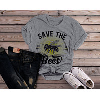 Women's T-Shirt Save The Bees No Food Bee Keeper Gift Shirt