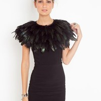 Ostrich Feather Collar in  What's New at Nasty Gal