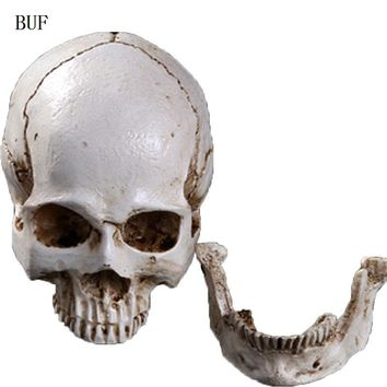 Skull Skulls Halloween Fall BUF Resin Craft Statues For Decoration  Head Creative  Figurines Sculpture Ornament Home Decoration Accessories Calavera