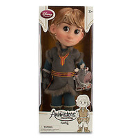 """disney store frozen animator 16"""" kristoff doll with sven new edition with box"""