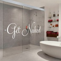 Vinyl Wall Housewares - Get Naked - 47.2 x 19.3 in