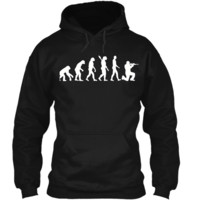 Mens Evolution Airsoft T-Shirt Pullover Hoodie 8 oz