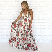 Floral Affair Maxi Dress in Ivory