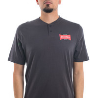 Brixton, Ramsey Henley - Washed Black - Tops - MOOSE Limited