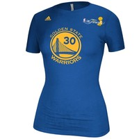 adidas Stephen Curry Golden State Warriors Women's Royal 2015 NBA Finals Champions Name & Number T-Shirt