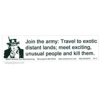 Join The Army Bumper Sticker on Sale for $0.99 at HippieShop.com