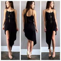 A Sassy Wrapped Lady Dress in Black