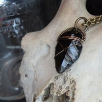 Black Obsidian Arrowhead Necklace // Hand napped Amulet Native Southern Jewelry // Men's Jewelry // Unisex Necklace // Gift Idea for him
