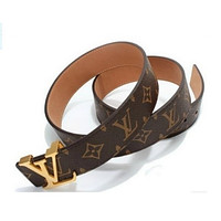 LOUIS VUITTONMEN GENUINE LEATHER BELT BRAND BELTS