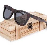 Wood Sunglasses For Men's Square & Rectangle Style Polarized - WS10007