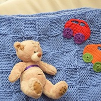 Baby blanket Kids knit afghan car appliques Baby boy blankets wool Christening baptism bedding throw wrap Chunky newborn BABY SHOWER GIFT nursery blanket car seat cover stroller blanket