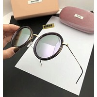 Miu Miu Trending Women Stylish Summer Round Style Sun Shades Eyeglasses Glasses Sunglasses Silvery Grey I-A-SDYJ