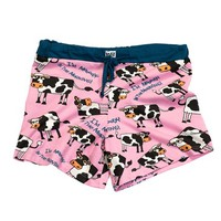 Moody in the Morning Cow Women's Boxer | LazyOne - Pajamas, Funny Boxers & Other Fun Wearables!
