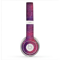 The Pink & Blue Grungy Surface Texture Skin for the Beats by Dre Solo 2 Headphones