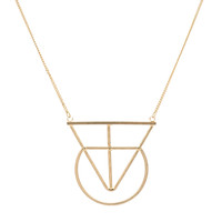 Connected Shape Necklace