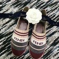 Fendi Women Fashion Boots fashionable Casual leather Breathable Sneakers Running Shoes Sneak
