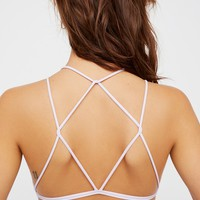 Free People High Neck Strappy Back Seamless Bra