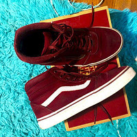 VANS fashion high-top lace-up sneakers classic men's and women's canvas shoes