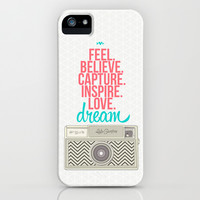 Camera Dream Feel Inspire Love  iPhone & iPod Case by lalaloves
