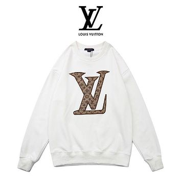 Louis Vuitton LV Women Men Fashion Hooded Top Pullover Sweatshirt Hoodie