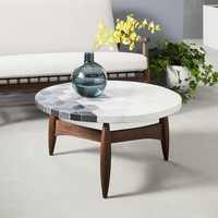 Mosaic Tiled Coffee Table - Isometric Concrete